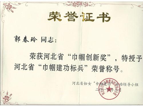 2014.3河北省巾帼建功标兵